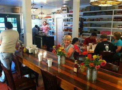 Sally Gaskin inside the Red Bay Cafe